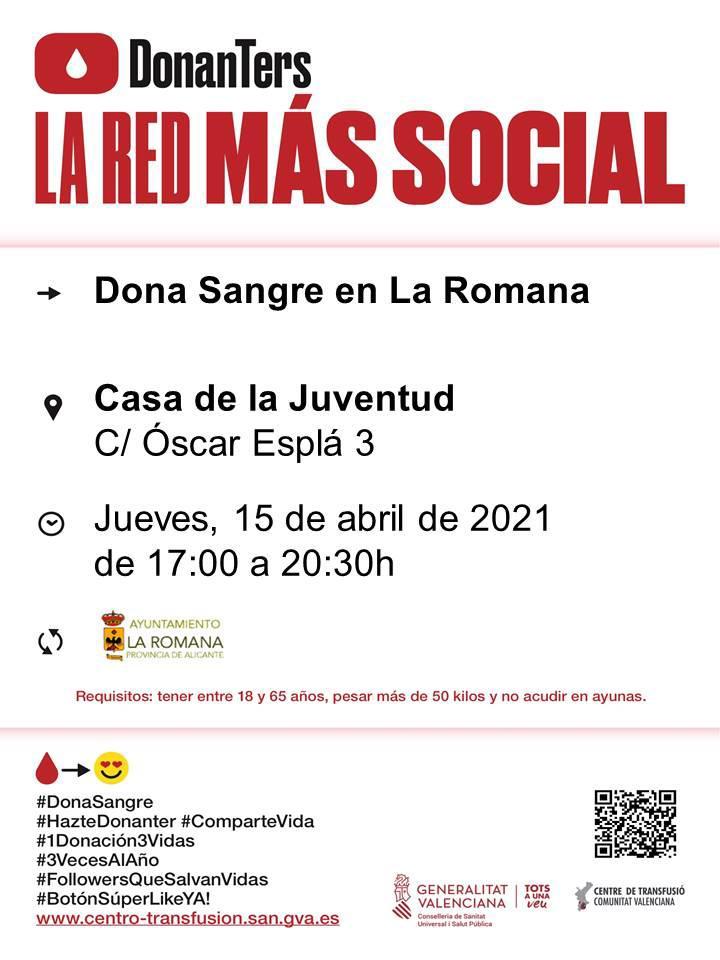 PRÓXIMA COLECTA DE DONACIÓN DE SANGRE